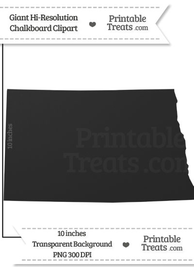 Clean Chalkboard Giant North Dakota State Clipart from PrintableTreats.com