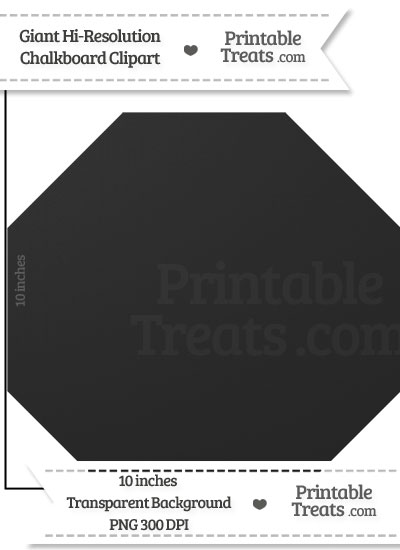 Clean Chalkboard Giant Octagon Clipart from PrintableTreats.com