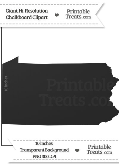 Clean Chalkboard Giant Pennsylvania State Clipart from PrintableTreats.com