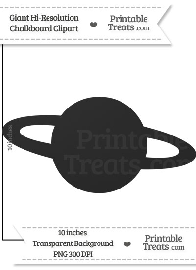 Clean Chalkboard Giant Planet Clipart from PrintableTreats.com
