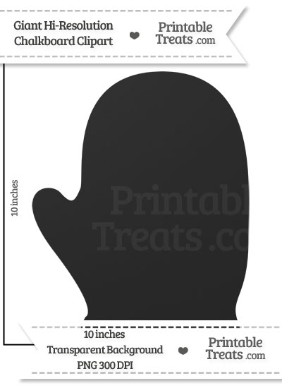 Clean Chalkboard Giant Right Glove Clipart from PrintableTreats.com