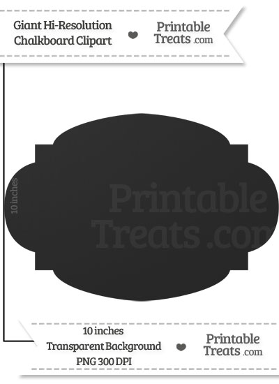 Clean Chalkboard Giant Rounded Label Clipart from PrintableTreats.com