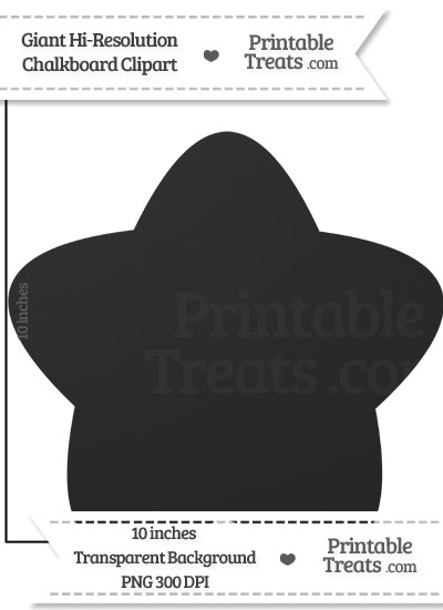 Clean Chalkboard Giant Rounded Star Clipart from PrintableTreats.com