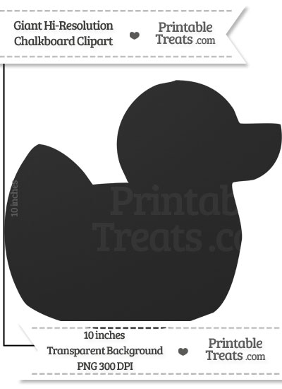 Clean Chalkboard Giant Rubber Ducky Clipart from PrintableTreats.com
