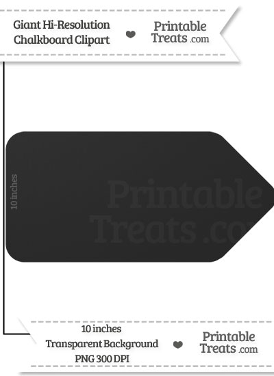 Clean Chalkboard Giant Sales Tag Clipart from PrintableTreats.com