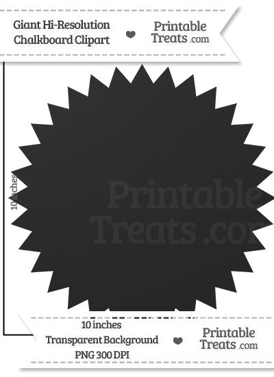 Clean Chalkboard Giant Seal Clipart from PrintableTreats.com