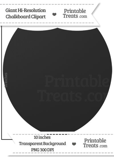 Clean Chalkboard Giant Shield Clipart from PrintableTreats.com