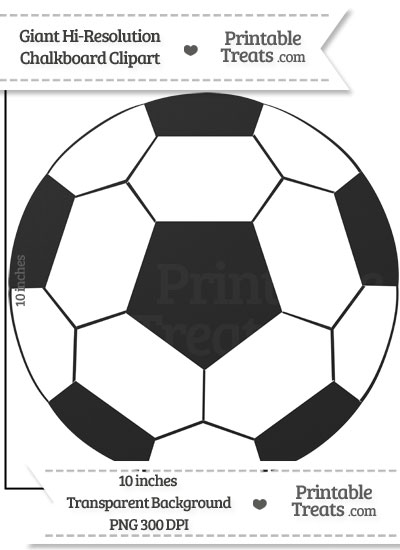 Clean Chalkboard Giant Soccer Ball Clipart from PrintableTreats.com