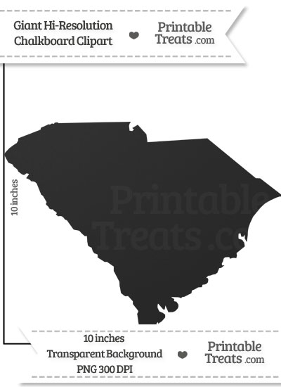 Clean Chalkboard Giant South Carolina State Clipart from PrintableTreats.com