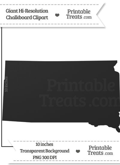 Clean Chalkboard Giant South Dakota State Clipart from PrintableTreats.com