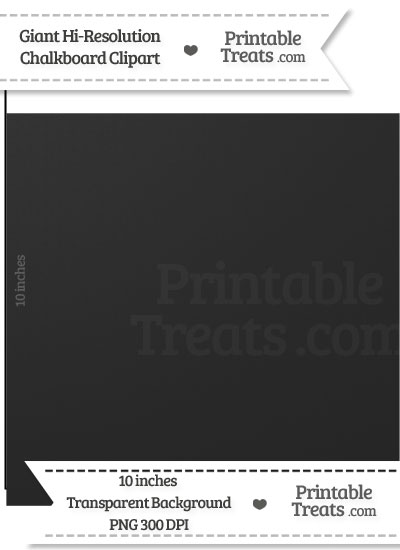 Clean Chalkboard Giant Square Clipart from PrintableTreats.com