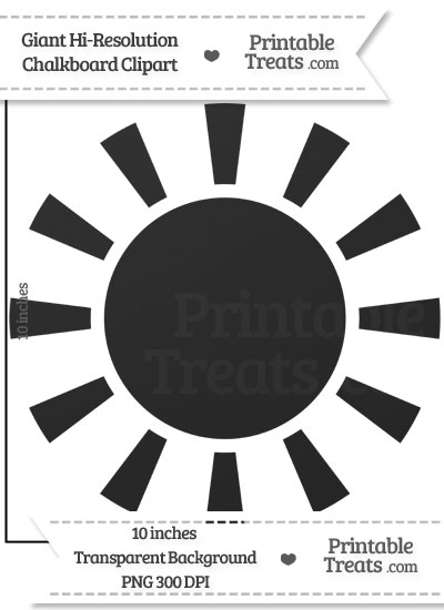 Clean Chalkboard Giant Sun Clipart from PrintableTreats.com