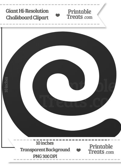 Clean Chalkboard Giant Swirl Clipart from PrintableTreats.com