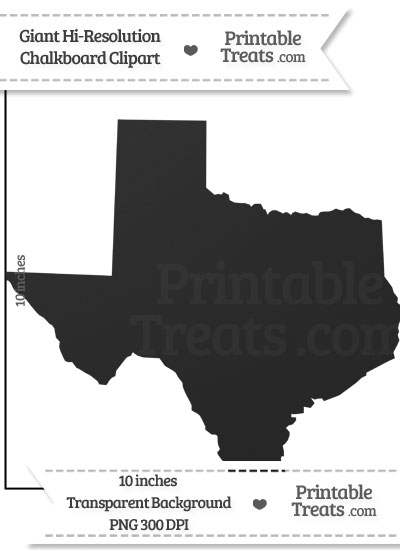 Clean Chalkboard Giant Texas State Clipart from PrintableTreats.com