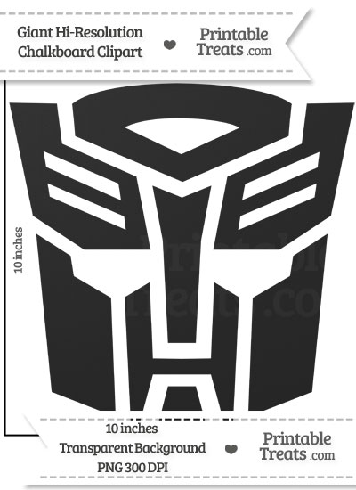 Clean Chalkboard Giant Transformers Symbol Clipart from PrintableTreats.com
