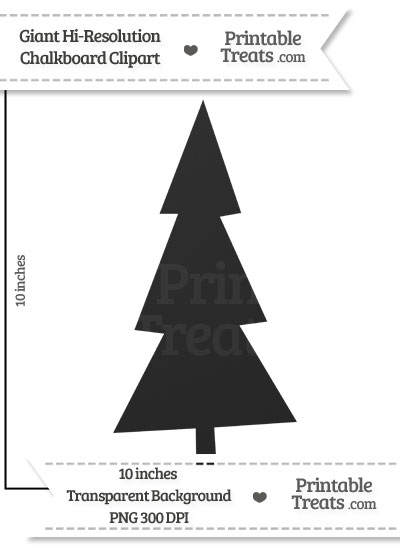 Clean Chalkboard Giant Tree Clipart from PrintableTreats.com