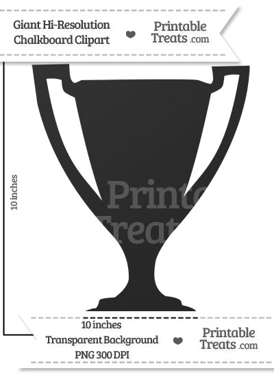 Clean Chalkboard Giant Trophy Clipart from PrintableTreats.com