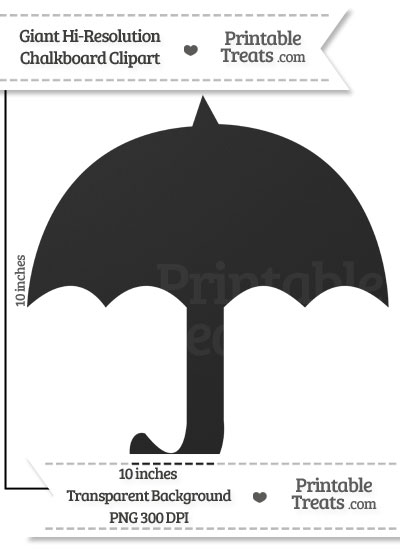 Clean Chalkboard Giant Umbrella Clipart from PrintableTreats.com