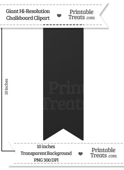 Clean Chalkboard Giant Vertical Ribbon Clipart from PrintableTreats.com