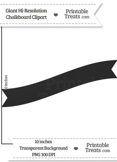 Clean Chalkboard Giant Wavy Banner Clipart from PrintableTreats.com