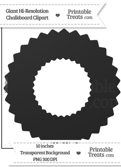 Clean Chalkboard Giant Wreath Clipart from PrintableTreats.com