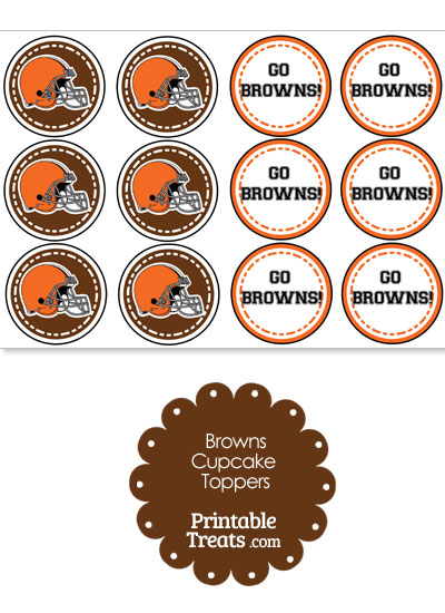Cleveland Browns Cupcake Toppers from PrintableTreats.com