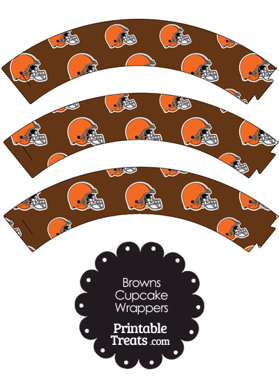 Cleveland Browns Football Helmet Cupcake Wrappers from PrintableTreats.com