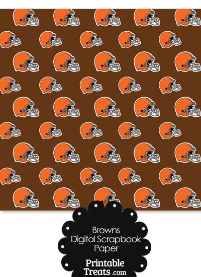 Cleveland Browns Football Helmet Digital Paper from PrintableTreats.com