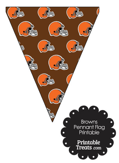 Cleveland Browns Football Pennant Banners from PrintableTreats.com