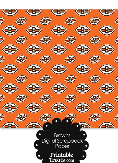 Cleveland Browns Logo Digital Paper from PrintableTreats.com