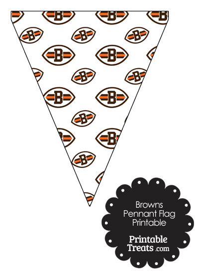 Cleveland Browns Logo with White Background Pennant Banners from PrintableTreats.com