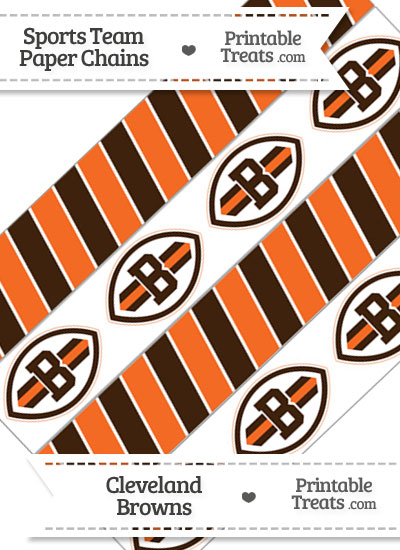 Cleveland Browns Paper Chains from PrintableTreats.com