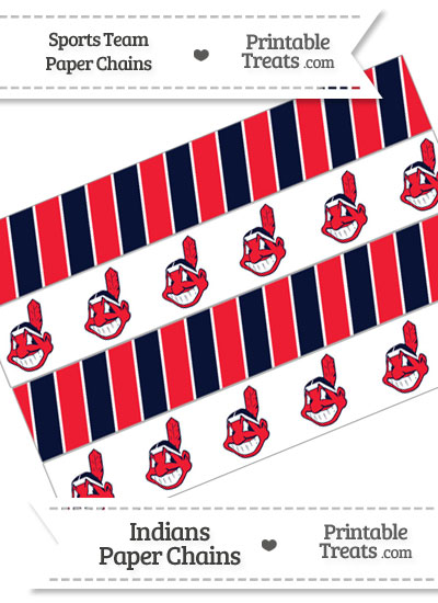 Cleveland Indians Paper Chains from PrintableTreats.com