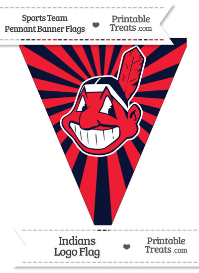 Cleveland Indians Pennant Banner Flag from PrintableTreats.com