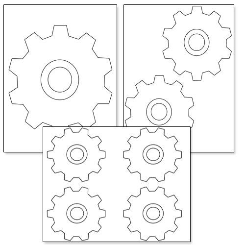 cog shape printable