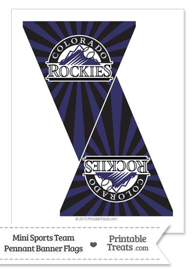 Colorado Rockies Mini Pennant Banner Flags from PrintableTreats.com
