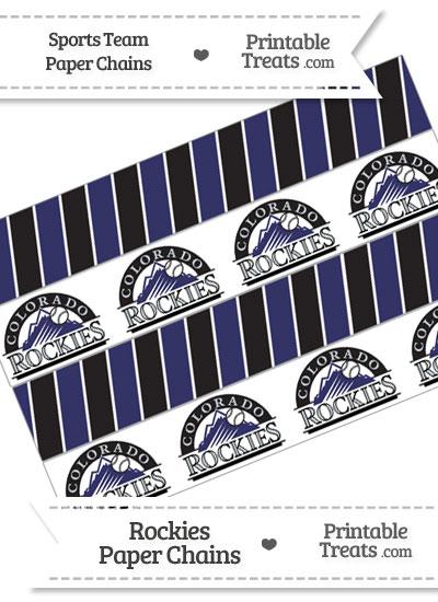 Colorado Rockies Paper Chains from PrintableTreats.com