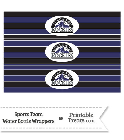 Colorado Rockies Water Bottle Wrappers from PrintableTreats.com