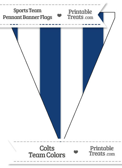 Colts Colors Pennant Banner Flag from PrintableTreats.com