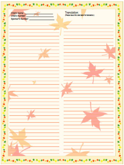 compassion autumn leaves stationery