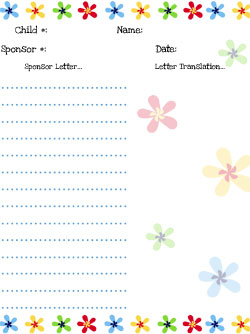 compassion flowers stationery