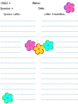 compassion spring flower stationery
