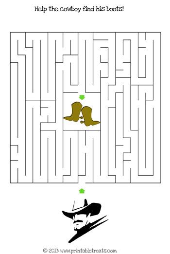 cowboy maze puzzle