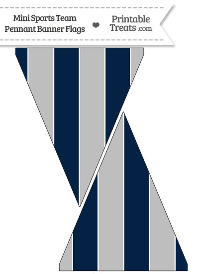 Cowboys Colors Mini Pennant Banner Flags from PrintableTreats.com