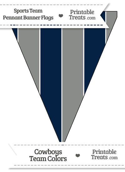 Cowboys Colors Pennant Banner Flag from PrintableTreats.com