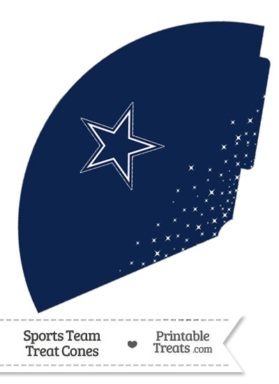 Cowboys Treat Cone Printable from PrintableTreats.com