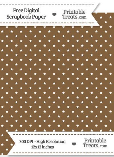 Coyote Brown Mini Stars Digital Paper from PrintableTreats.com