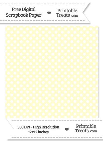 Cream Polka Dot Digital Paper from PrintableTreats.com