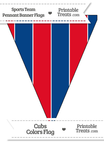Cubs Colors Pennant Banner Flag from PrintableTreats.com