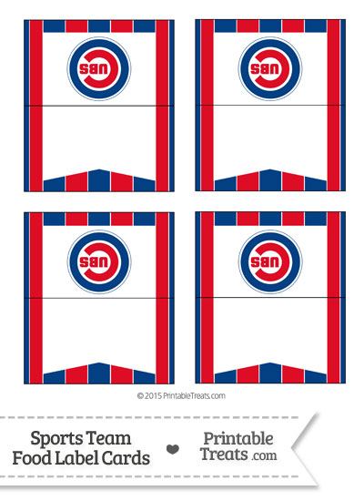 Cubs Food Label Buffet Cards from PrintableTreats.com
